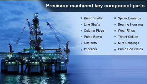 Precision machined key component parts for the oil and gas sector